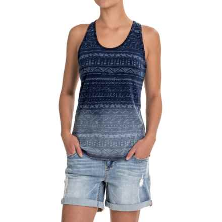 Gramicci On the Go Printed Batik Tank Top - Indigo-Dyed Cotton, Racerback (For Women) in Dark Sandblast - Closeouts