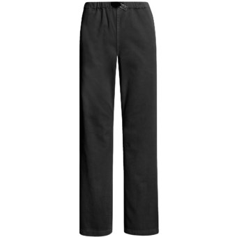 Gramicci Original G Dourada Pants - Cotton Twill, Straight Leg (For Women) in Jet Black