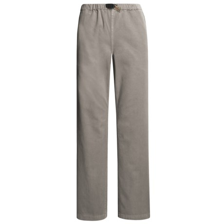 Gramicci Original G Dourada Pants - Cotton Twill, Straight Leg (For Women) in Pebble Grey