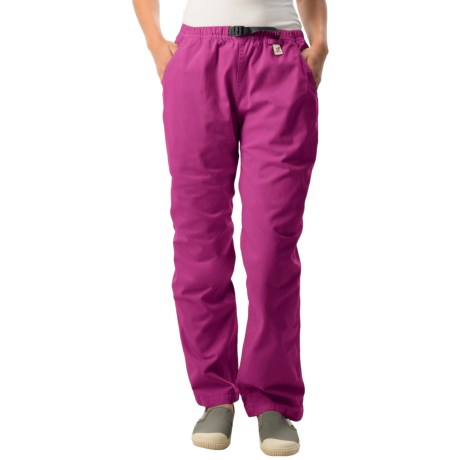 Gramicci Original G Dourada Pants - Cotton Twill, Straight Leg (For Women) in Wild Aster