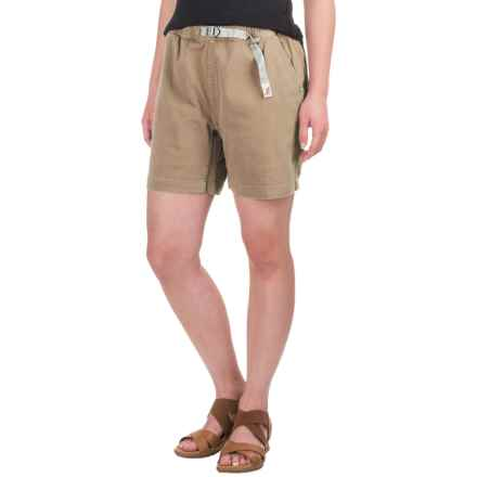 Gramicci Original G Orphia Shorts - Stretch Twill  (For Women) in Beach Khaki - Closeouts