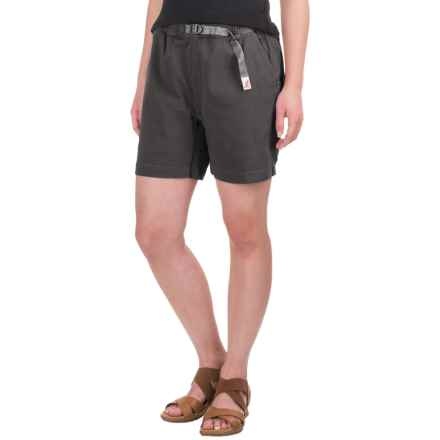 Gramicci Original G Orphia Shorts - Stretch Twill  (For Women) in Black - Closeouts