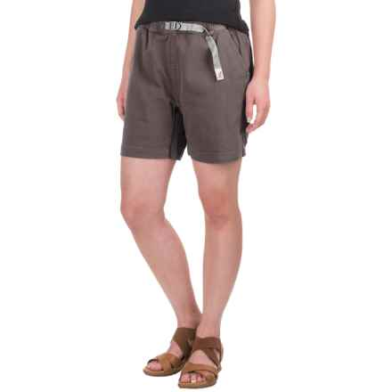 Gramicci Original G Orphia Shorts - Stretch Twill  (For Women) in Mink Brown - Closeouts