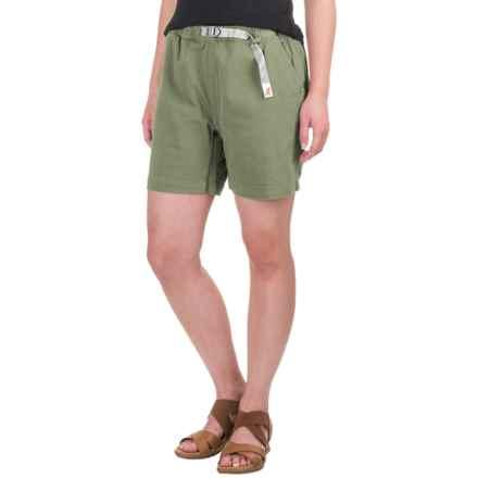 Gramicci Original G Orphia Shorts - Stretch Twill  (For Women) in Olive - Closeouts
