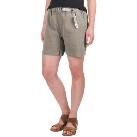 Gramicci Original G Orphia Shorts - Stretch Twill  (For Women) in Seafoam Grey - Closeouts