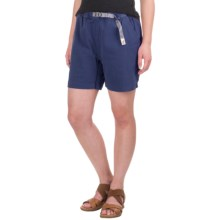 Gramicci Original G Orphia Shorts - Stretch Twill  (For Women) in Slate Blue - Closeouts