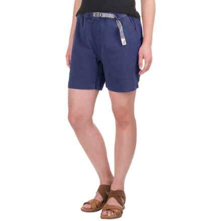 Gramicci Original G Orphia Shorts - Stretch Twill  (For Women) in Slate Blue - Closeouts