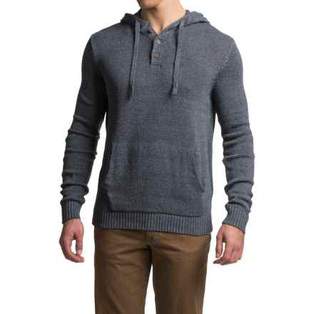Gramicci Out and About Hooded Sweater - Organic Cotton (For Men) in Marled Navy - Closeouts