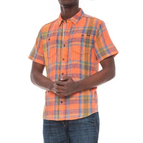 Gramicci Parkside Shirt - Short Sleeve (For Men) in Celosia Orange