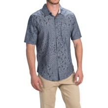 Gramicci Patchwork Parkside Shirt - Short Sleeve (For Men) in Indigo Blue - Closeouts