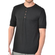 Gramicci Paxton Henley Shirt - UPF 20, Hemp-Organic Cotton, Short Sleeve (For Men) in Black - Closeouts