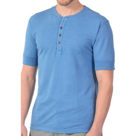 Gramicci Paxton Henley Shirt - UPF 20, Hemp-Organic Cotton, Short Sleeve (For Men) in Sail Blue