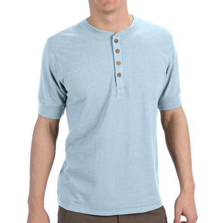 Gramicci Paxton Henley Shirt - UPF 20, Hemp-Organic Cotton, Short Sleeve (For Men) in Winter Sky