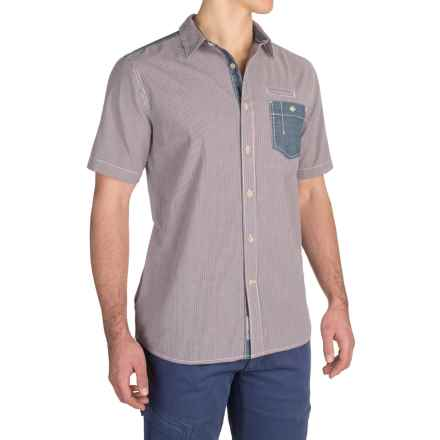 Gramicci Peyton Check Shirt - Short Sleeve (For Men) in Red - Closeouts