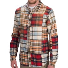 Gramicci Phoenix Patchwork Flannel Shirt - Button Front, Long Sleeve (For Men) in Multi - Closeouts