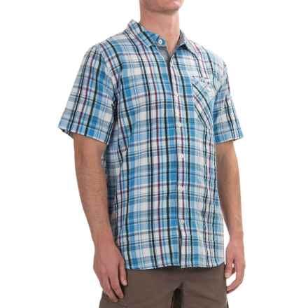 Gramicci Playa Vista Plaid Shirt - Short Sleeve (For Men) in Blue - Closeouts