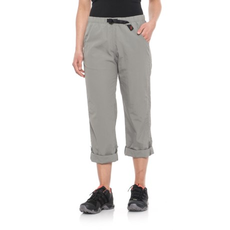 Gramicci Rocket Dry Roll-Up G-Pants -  Convertible Legs (For Women) in Light Grey