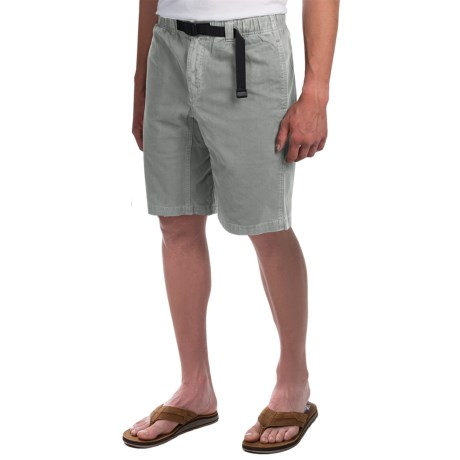 Gramicci Rockin' Sport Shorts - Cotton, Flat Front (For Men) in Light Grey