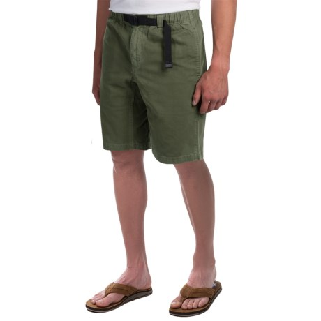 Gramicci Rockin Sport Shorts - Cotton, Flat Front (For Men) in Olive Night
