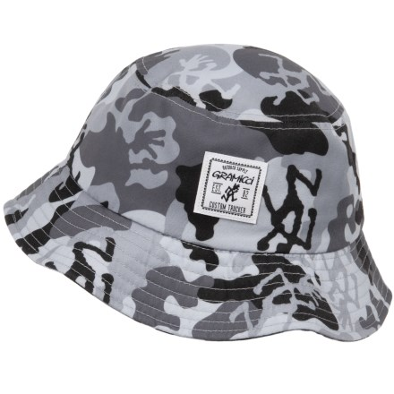 cd84377c471 Gramicci Running Man Camo Bucket Hat (For Men) in Grey - Closeouts