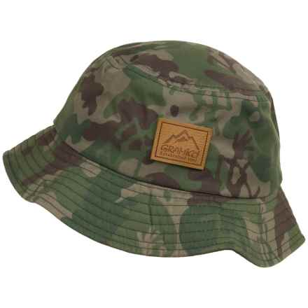 Gramicci Running Man Camo Bucket Hat (For Men) in Olive - Closeouts