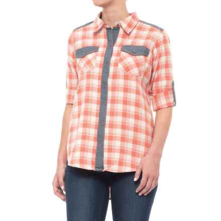 Gramicci Runyon Plaid Boyfriend Shirt (For Women) in Crabapple - Closeouts