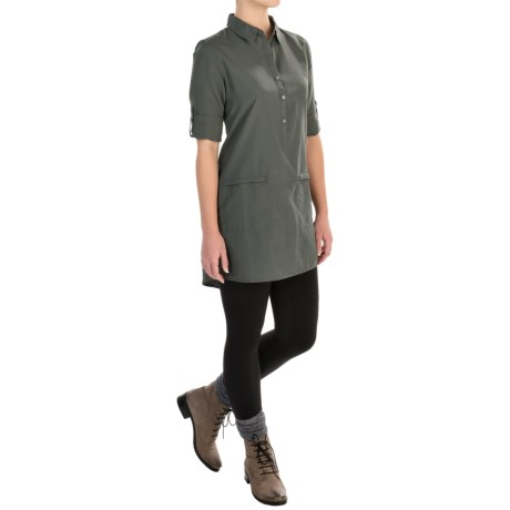 Gramicci Sadie Dress - Roll-Up Long Sleeve (For Women) in Castle Rock