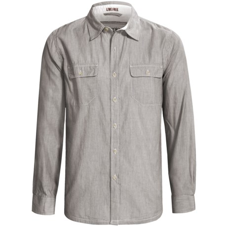 Gramicci Scout Railroad Stripe Shirt - Cotton, Long Sleeve (For Men) in Light Turquoise