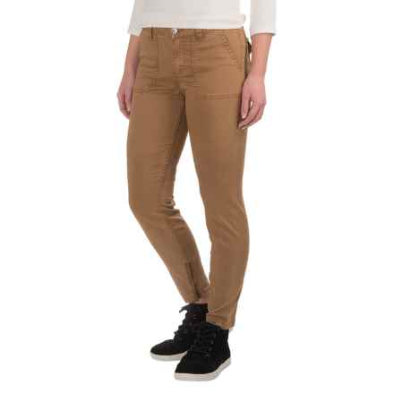 Gramicci Seamless Skinny Chino Pants (For Women) in Caramel Tan - Closeouts