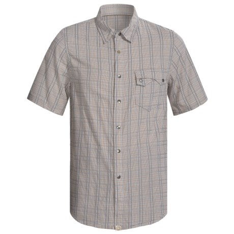 Gramicci Sentinel Shirt - Short Sleeve (For Men) in Chipmunk