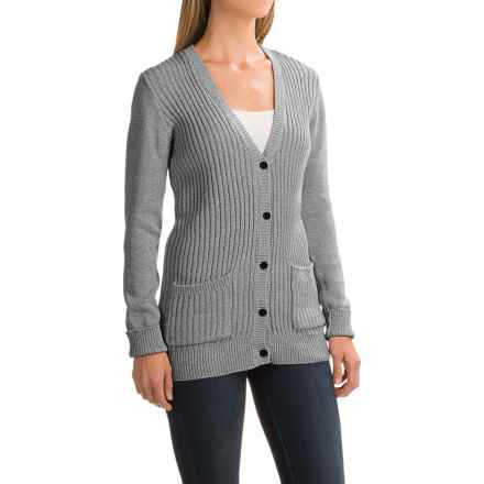 Gramicci Snuggled Up Cardigan Sweater - Organic Cotton (For Women) in Marled Grey - Closeouts