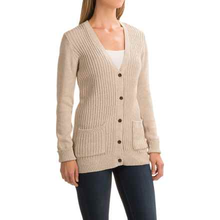 Gramicci Snuggled Up Cardigan Sweater - Organic Cotton (For Women) in Oatmeal - Closeouts