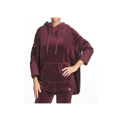Gramicci Stella Cape Hoodie Shirt - Organic Cotton (For Women) in Chokecherry