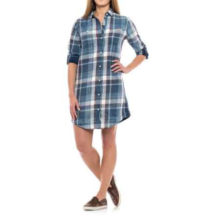 Gramicci Summer Lovin' Shirt Dress - Long Sleeve (For Women) in Pool Blue - Closeouts