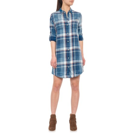487ae610c86fd5 Gramicci Summer Lovin' Shirt Dress - Long Sleeve (For Women) in Pool Blue