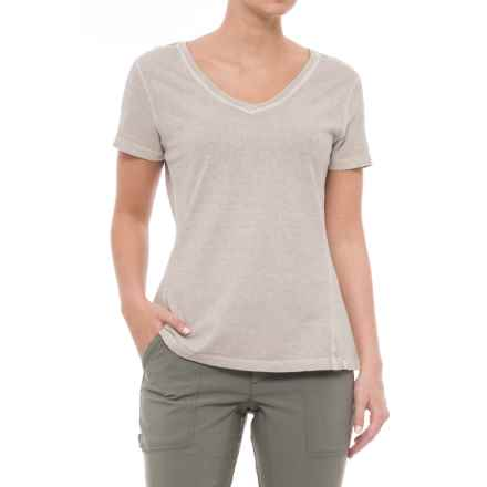 Gramicci Sunshine T-Shirt - V-Neck, Short Sleeve (For Women) in Frosted Almond - Closeouts