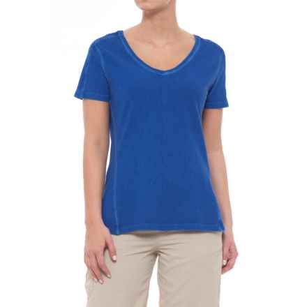 Gramicci Sunshine T-Shirt - V-Neck, Short Sleeve (For Women) in Midnight Blue - Closeouts