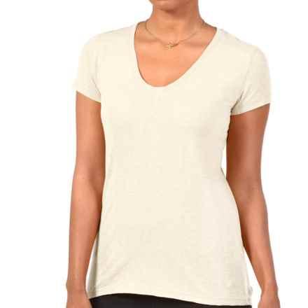 Gramicci Tara V-Neck T-Shirt - UPF 20, Hemp-Organic Cotton, Short Sleeve (For Women) in Bone - Closeouts