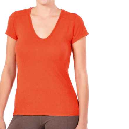 Gramicci Tara V-Neck T-Shirt - UPF 20, Hemp-Organic Cotton, Short Sleeve (For Women) in Scottish Orange - Closeouts
