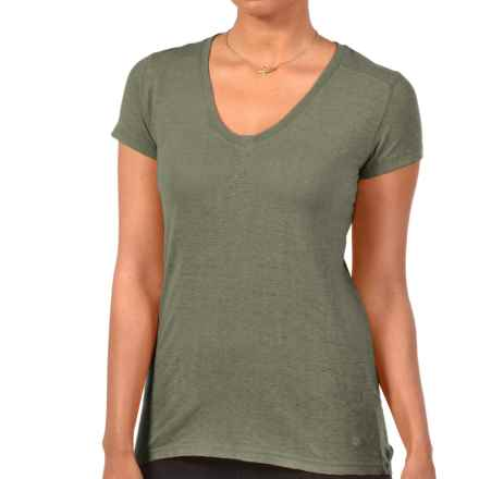 Gramicci Tara V-Neck T-Shirt - UPF 20, Hemp-Organic Cotton, Short Sleeve (For Women) in Thyme - Closeouts