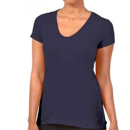 Gramicci Tara V-Neck T-Shirt - UPF 50, Hemp-Organic Cotton, Short Sleeve (For Women) in Bleeding Ink - Closeouts