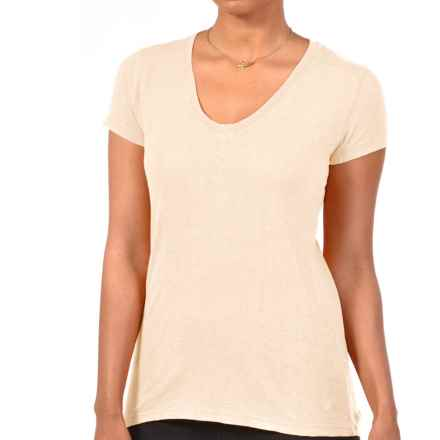 Gramicci Tara V-Neck T-Shirt - UPF 50, Hemp-Organic Cotton, Short Sleeve (For Women) in Bone White - Closeouts