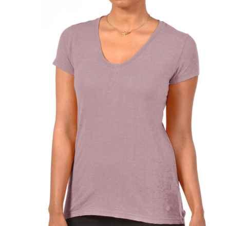Gramicci Tara V-Neck T-Shirt - UPF 50, Hemp-Organic Cotton, Short Sleeve (For Women) in Petal Pink - Closeouts