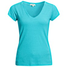 Gramicci Tara V-Neck T-Shirt - UPF 50, Hemp-Organic Cotton, Short Sleeve (For Women) in Scuba Blue - Closeouts