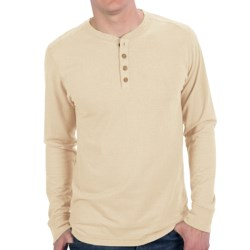 Gramicci Tavern Henley Shirt - UPF 20, Hemp-Organic Cotton, Long Sleeve (For Men) in Ghost White