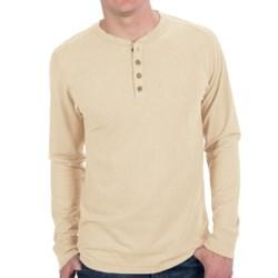 Gramicci Tavern Henley Shirt - UPF 20, Hemp-Organic Cotton, Long Sleeve (For Men) in Ghost White
