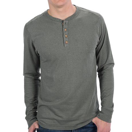 Gramicci Tavern Henley Shirt - UPF 20, Hemp-Organic Cotton, Long Sleeve (For Men) in Light Grey