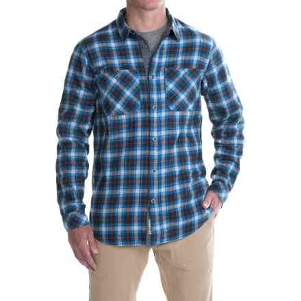 Gramicci Throwback Plaid Flannel Shirt - Long Sleeve (For Men) in Dutch Blue - Closeouts