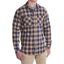 Gramicci Throwback Plaid Flannel Shirt - Long Sleeve (For Men) in Golden Sun - Closeouts