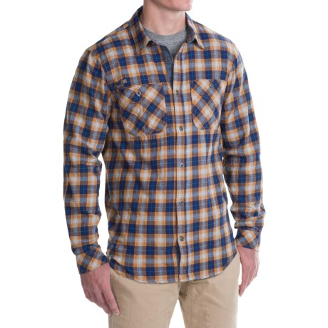 Gramicci Throwback Plaid Flannel Shirt - Long Sleeve (For Men) in Golden Sun